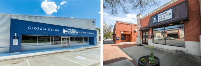 Business Innovation Groups Metter Georgia Grown Innovation Center and downtown Statesboro locations.